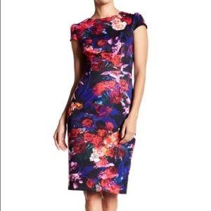 Like New Betsey Johnson Cap Sleeve Floral Dress